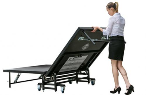 portable folding stages