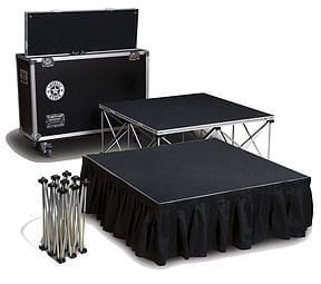 6sqm staging system with transport case
