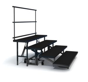 Fold and Roll Choir Riser