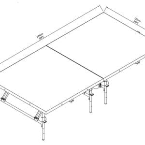 slim folding stage dimensions
