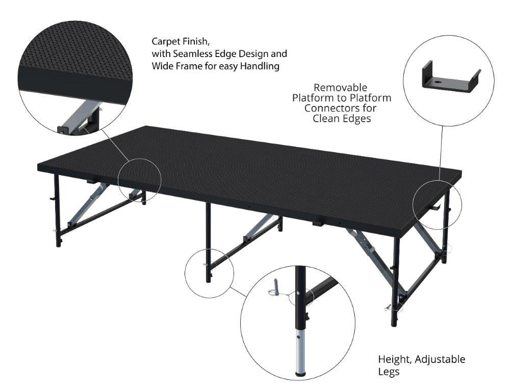 height adjustable stages