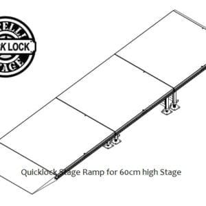 portable stage ramp for 60cm high stage