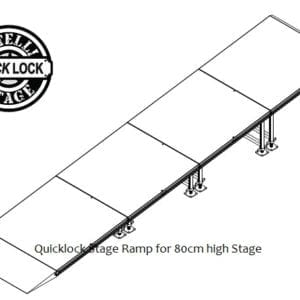 portable stage ramp for 80cm high stage
