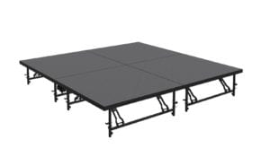 tri height mobile folding stage