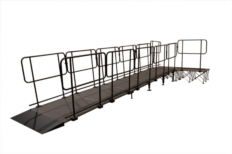 Portable stage wheelchair access ramps